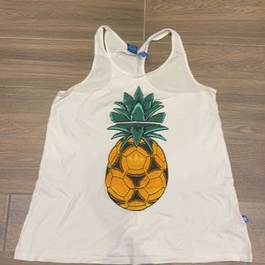Adidas women tank top with pineapple size M